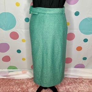 Collectif Caroline Pencil Skirt Green Pinup Girl